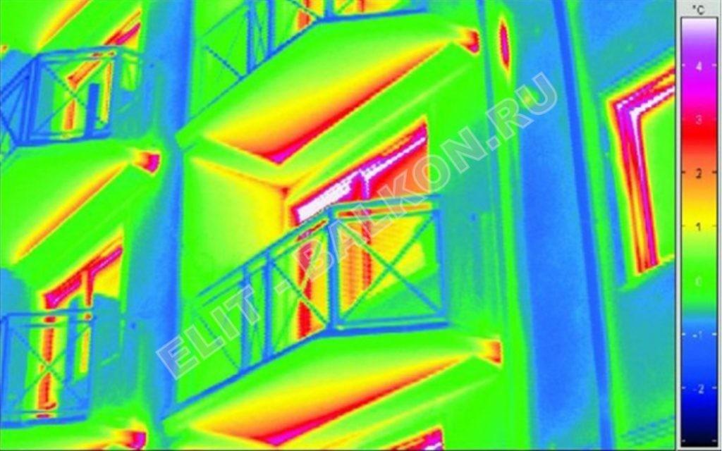 Обследование балконов тепловизором