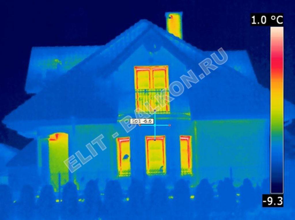 3 Obsledovanie teplovizorom kvartir domov ElitBalkon 2016 4 1024x766 - Обследование домов загородных тепловизором