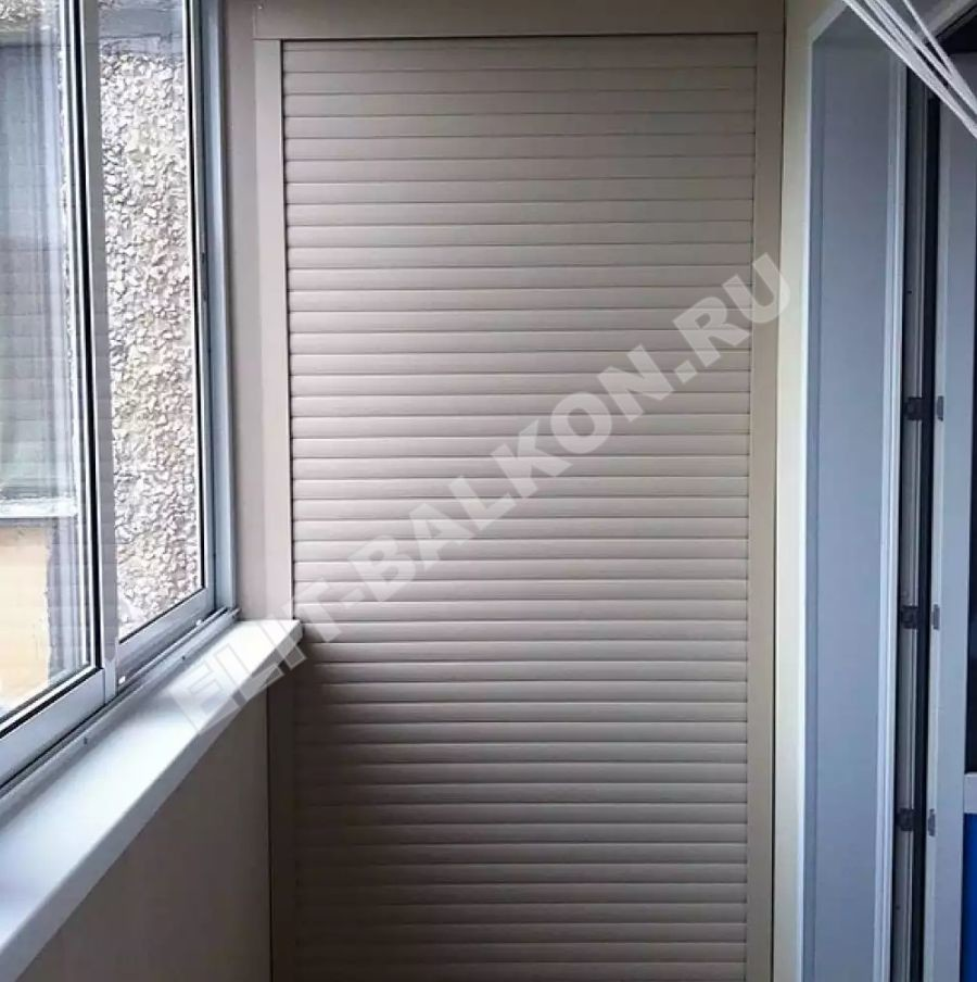 MEBEL NA BALKON SHKAF ROLSTAVNI 4 - Шкаф на балкон фасад рольставни