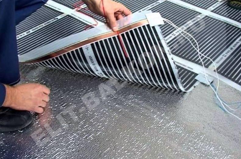 5 teplyj pol plenochnyj pod laminat kovrolin linoleum plitku - Теплый пол на балконе и лоджии