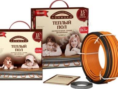 1 Teplyj pol kabelnyj na balkon Natsionalnyj komfort nagrevatelnye maty 2NK 1 387x291 - Теплый пол на балконе и лоджии