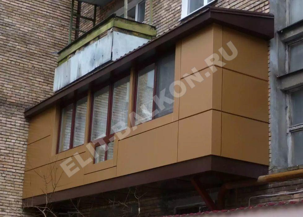 1 otdelka balkonov i lodzhij vneshnyaya obshivka aluminij kompozit 3 - Обшивка балкона алюминиевым композитом