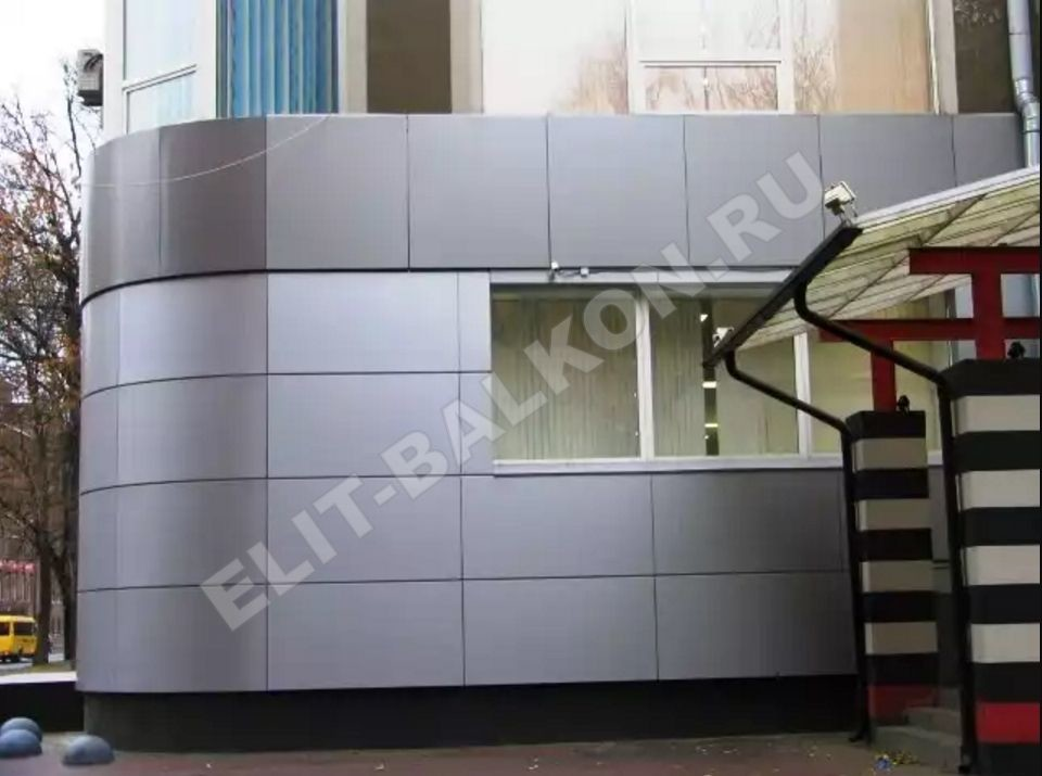 1 otdelka balkonov i lodzhij vneshnyaya obshivka aluminij kompozit 4 - Обшивка балкона алюминиевым композитом