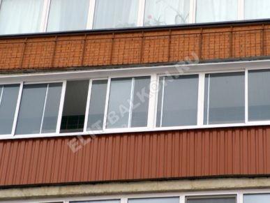 9 vneshnyaya otdelka balkona lodzhii profnastilom 387x291 - Обшивка балкона профнастилом