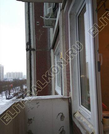 Фото остекления одного балкона № 15