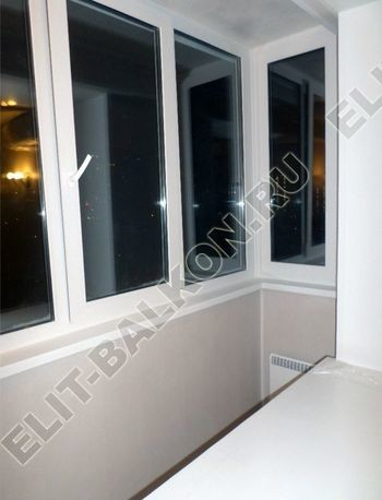 Фото остекления одного балкона № 17