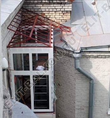 osteklenie balkona PVH s kryshej 16 387x291 - Фото остекления одного балкона № 27