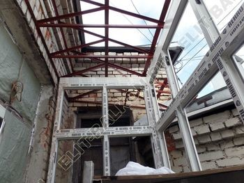 osteklenie balkona PVH s kryshej 18 387x291 - Фото остекления одного балкона № 27
