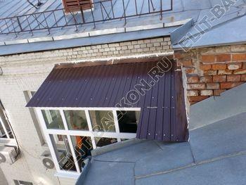 osteklenie balkona PVH s kryshej 21 387x291 - Фото остекления одного балкона № 27