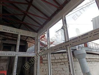 osteklenie balkona PVH s kryshej 22 387x291 - Фото остекления одного балкона № 27