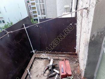 osteklenie balkona PVH s kryshej 4 387x291 - Фото остекления одного балкона № 27