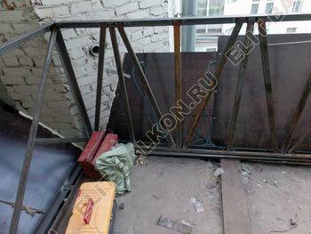 osteklenie balkona PVH s kryshej 5 387x291 - Фото остекления одного балкона № 27