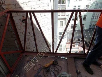 osteklenie balkona PVH s kryshej 8 387x291 - Фото остекления одного балкона № 27