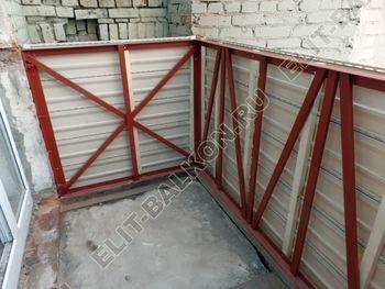 osteklenie balkona PVH s kryshej 9 387x291 - Фото остекления одного балкона № 27