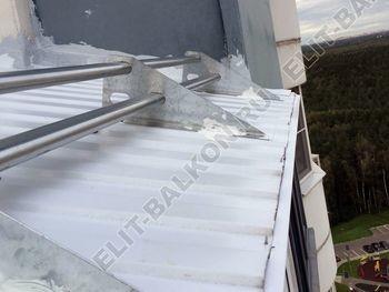 osteklenie otdelka balkona PVH s kryshej 5 387x291 - Фото остекления одного балкона № 31