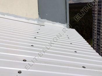 osteklenie otdelka balkona PVH s kryshej 8 387x291 - Фото остекления одного балкона № 31