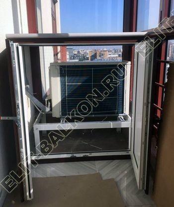 shkaf na balkone pod konditsioner6 387x291 - Фото остекления одного балкона № 28