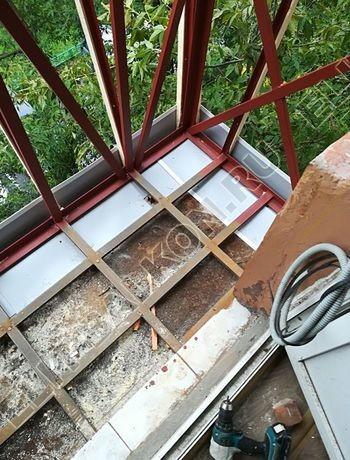 ukreplenie balkona s vynosom i falshkrovlja2 387x291 - Фото остекления одного балкона № 30