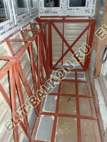 ukreplenie balkona s vynosom i falshkrovlja25 387x291 - Фото остекления одного балкона № 30