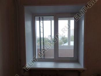 osteklenie lodzhii slajdors s otdelkoj i sohraneniem pozharnoj lestnitsy12 387x291 - Фото остекления одного балкона № 35