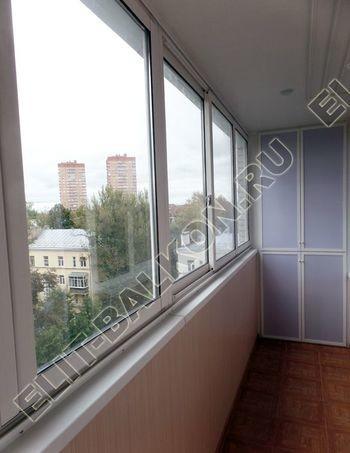 Фото остекления одного балкона № 35