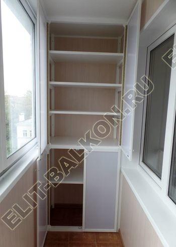 osteklenie lodzhii slajdors s otdelkoj i sohraneniem pozharnoj lestnitsy34 387x291 - Фото остекления одного балкона № 35