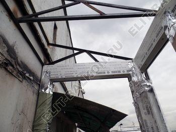 osteklenie otdelka balkona PVH s kryshej 27 387x291 - Фото остекления одного балкона № 34