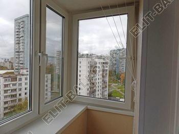 osteklenie otdelka balkona PVH s kryshej 33 387x291 - Фото остекления одного балкона № 34
