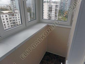osteklenie otdelka balkona PVH s kryshej 34 387x291 - Фото остекления одного балкона № 34