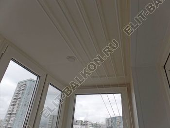 osteklenie otdelka balkona PVH s kryshej 35 387x291 - Фото остекления одного балкона № 34