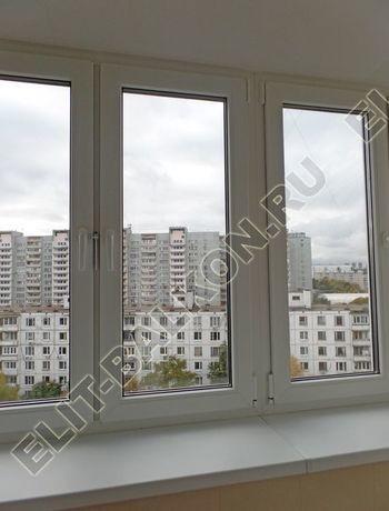 osteklenie otdelka balkona PVH s kryshej 40 387x291 - Фото остекления одного балкона № 34