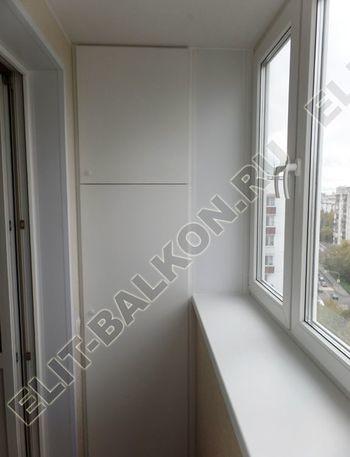 osteklenie otdelka balkona PVH s kryshej 44 387x291 - Фото остекления одного балкона № 34