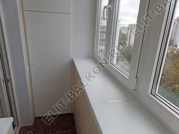 osteklenie otdelka balkona PVH s kryshej 45 387x291 - Фото остекления одного балкона № 34