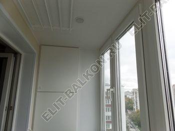 osteklenie otdelka balkona PVH s kryshej 46 387x291 - Фото остекления одного балкона № 34