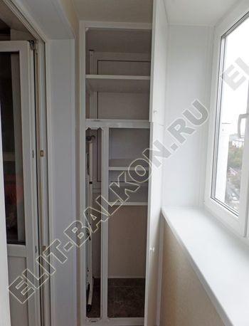 osteklenie otdelka balkona PVH s kryshej 51 387x291 - Фото остекления одного балкона № 34