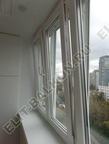 osteklenie otdelka balkona PVH s kryshej 58 387x291 - Фото остекления одного балкона № 34