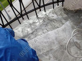 ukreplenie balkonnoj plity gidroizoljatsija ukladka plitki14 387x291 - Фото остекления окон № 38