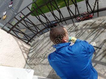 ukreplenie balkonnoj plity gidroizoljatsija ukladka plitki15 387x291 - Фото остекления окон № 38