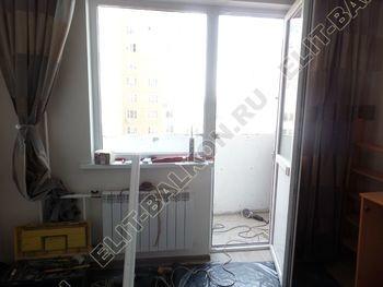 osteklenie lodzhii s vnutrennej otdelkoj obiedinenie s komnatoj teplyj pol1 387x291 - Фото остекления балкона № 43