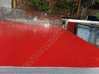 Balkon bez osteklenija krysha iz polikarbonata5 387x291 - Фото остекления балкона № 44
