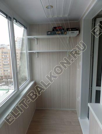 osteklenie lodzhii pvh otdelka osveschenie potolochnaja sushka10 387x291 - Фото остекления балкона № 46