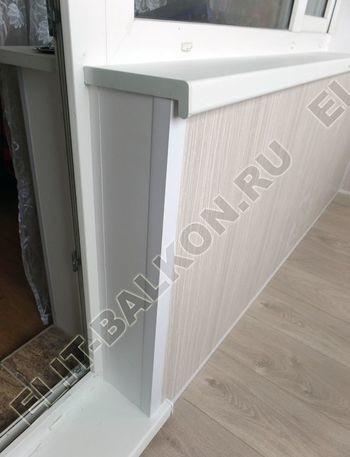 osteklenie lodzhii pvh otdelka osveschenie potolochnaja sushka29 387x291 - Фото остекления балкона № 46