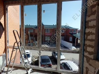 Balkon osteklennyj PVH ot pola do potolka 19 387x291 - Фото остекления балкона № 53