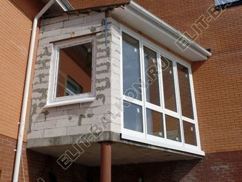 Balkon osteklennyj PVH ot pola do potolka 33 387x291 - Фото остекления балкона № 53