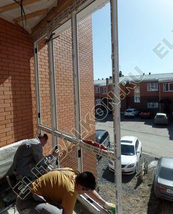 Balkon osteklennyj PVH ot pola do potolka 8 387x291 - Фото остекления балкона № 53