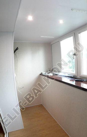 Osteklenie PVH lodzhii s betonnym parapetom vynos otdelka 14 387x291 - Фото остекления балкона № 52