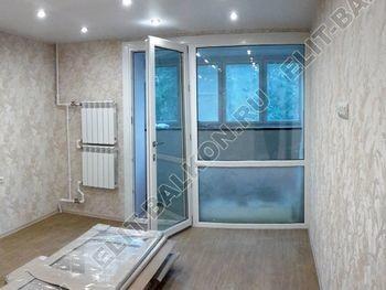Osteklenie PVH lodzhii s betonnym parapetom vynos otdelka 18 387x291 - Фото остекления балкона № 52