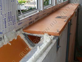 Osteklenie PVH lodzhii s betonnym parapetom vynos otdelka 32 1 387x291 - Фото остекления балкона № 52