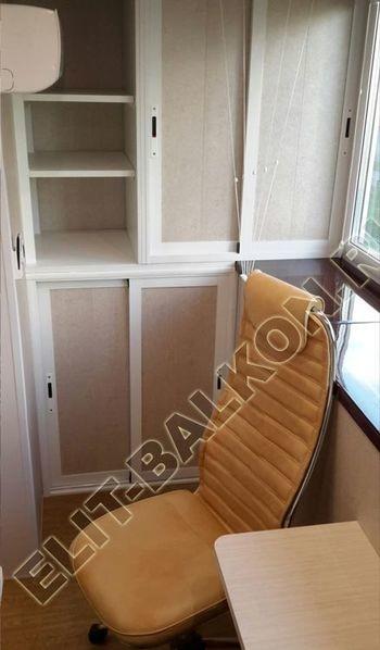 Osteklenie PVH lodzhii s betonnym parapetom vynos otdelka 37 387x291 - Фото остекления балкона № 52