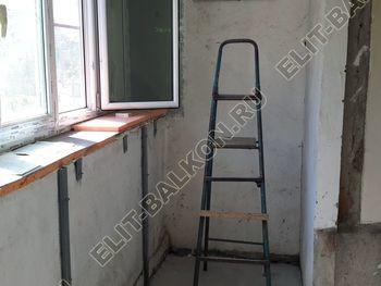 Osteklenie PVH lodzhii s betonnym parapetom vynos otdelka 5 387x291 - Фото остекления балкона № 52